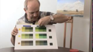 Getting Started with Acrylics - Mixing Greens & Greys