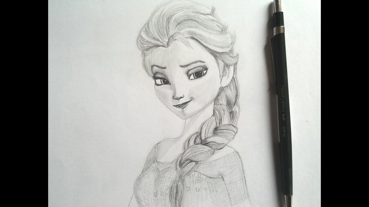 Dibujado a elsa from speed drawing elsa from frozen