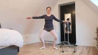 Silver Swans ballet at home with Licensee Fiona Fretwell, filmed during lockdown