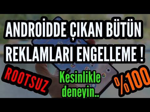 ANDROİD'DE ÇIKAN BÜTÜN REKLAMLARI ENGELLEME !