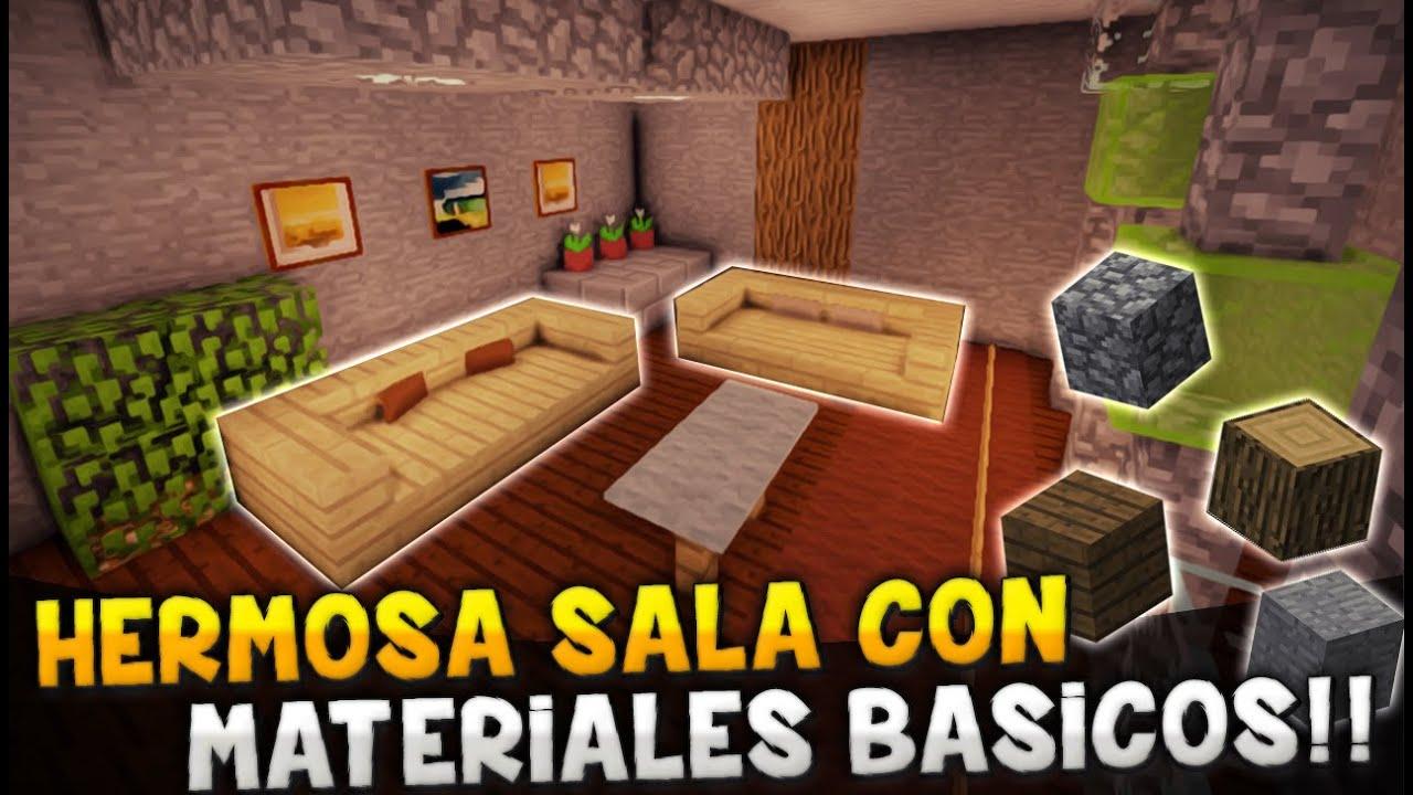 Minecraft como hacer una hermosa sala con materiales for Como hacer muebles en minecraft
