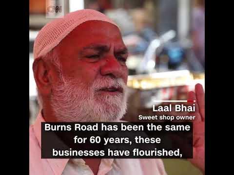 Karachi's famous food street Burns Road (CNN International)