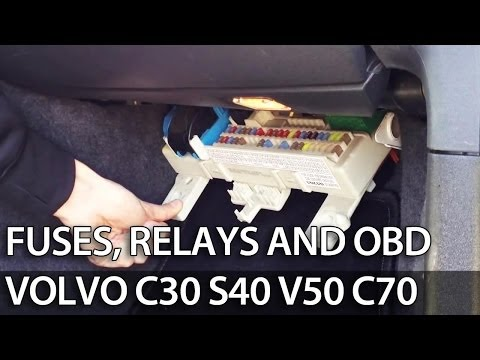 Where are fuses, relays and OBD port in Volvo C30 S40 V50 ... on mercedes c300 fuse box, chevrolet cruze fuse box, lexus is 250 fuse box, audi r8 fuse box, ford f100 fuse box, toyota vitz fuse box, volvo v60 fuse box, porsche 944 fuse box, vw touareg fuse box, vw eos fuse box, volvo p1800 fuse box, volvo fuse diagram, volkswagen eos fuse box, honda s2000 fuse box, cadillac srx fuse box, bmw 5 series fuse box, mazda rx8 fuse box, 2007 volvo fuse box, mitsubishi eclipse fuse box, nissan 370z fuse box,