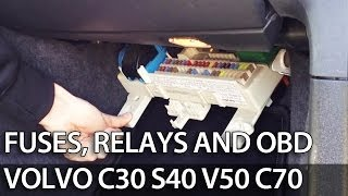 Where are fuses, relays and OBD port in Volvo C30 S40 V50 C70 (fuse box) -  YouTube | Volvo C30 Fuse Box Diagram |  | YouTube