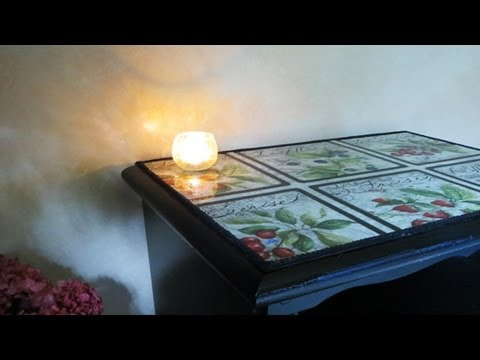 floral decoupage furniture. How To Decoupage Furniture With Fabric Floral D
