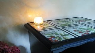 This video is not available. How to Decoupage Furniture with Fabric