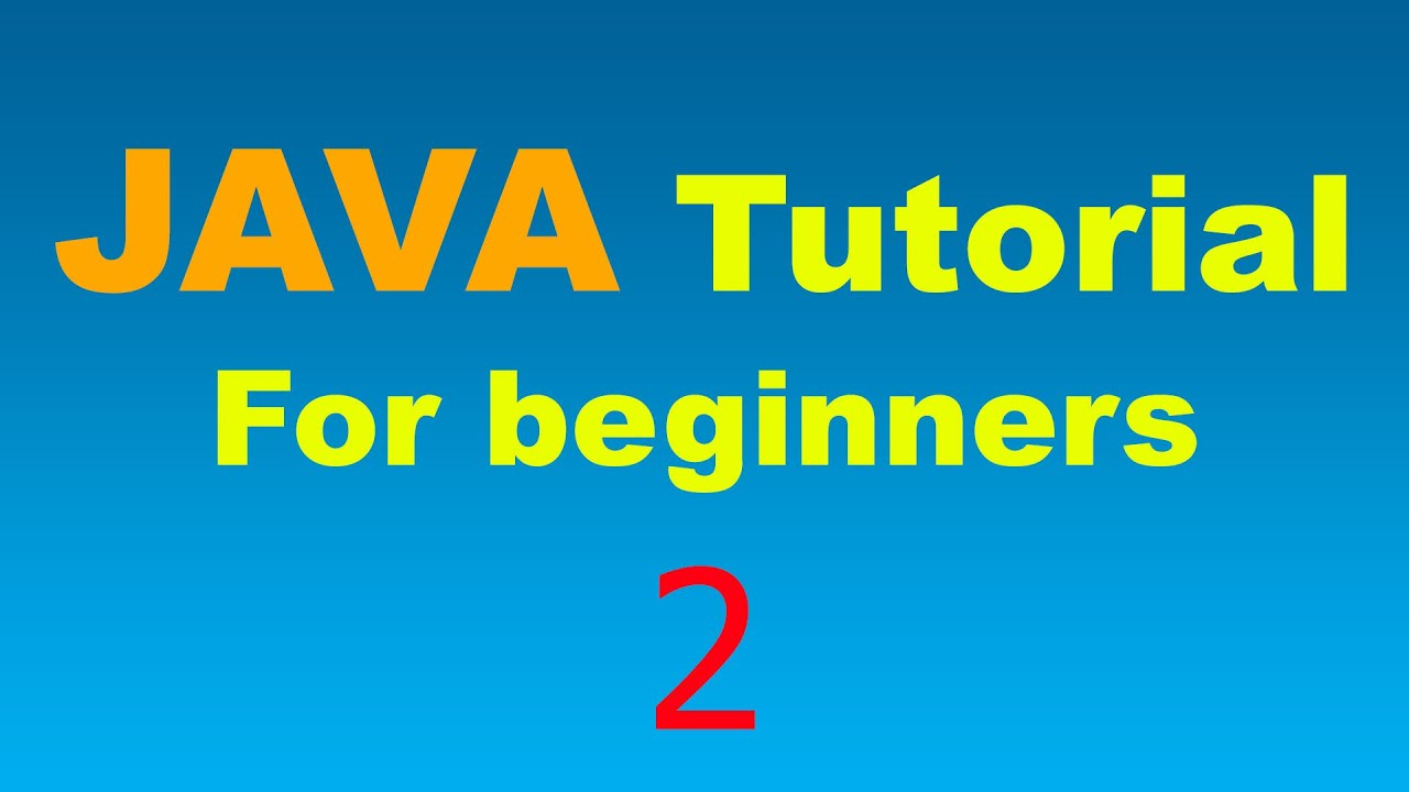 Java tutorial for beginners 2 variables and types youtube baditri Gallery