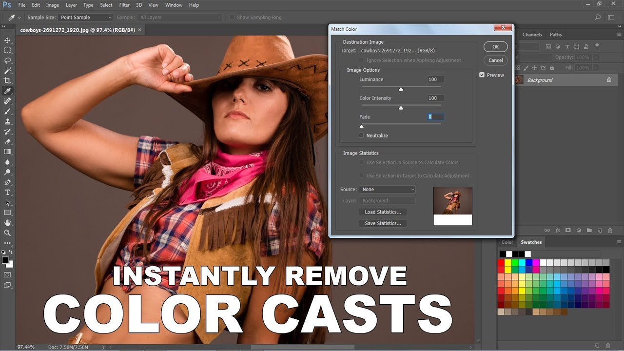 How to remove a color cast in photoshop cs6