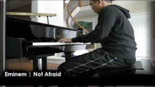 Not Afraid • PIANO COVER • Eminem  • Recovery Album (Lyrics)