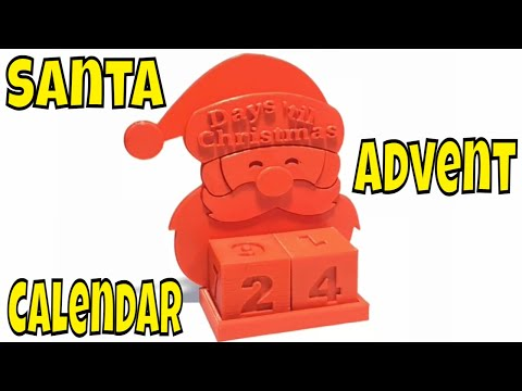 Christmas Advent Calendar 3D Printed Tinkercad Design plus Prusa Control vs  Simplify3D