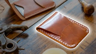 Making A Leather Card Holder With Flap Closure (FREE PDF TEMPLATE!)