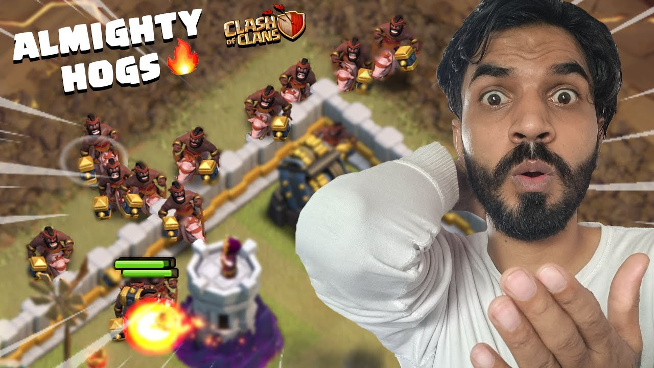 I Used 39 Hogs In Cwl for the First Time | Clash Of Clans | COC