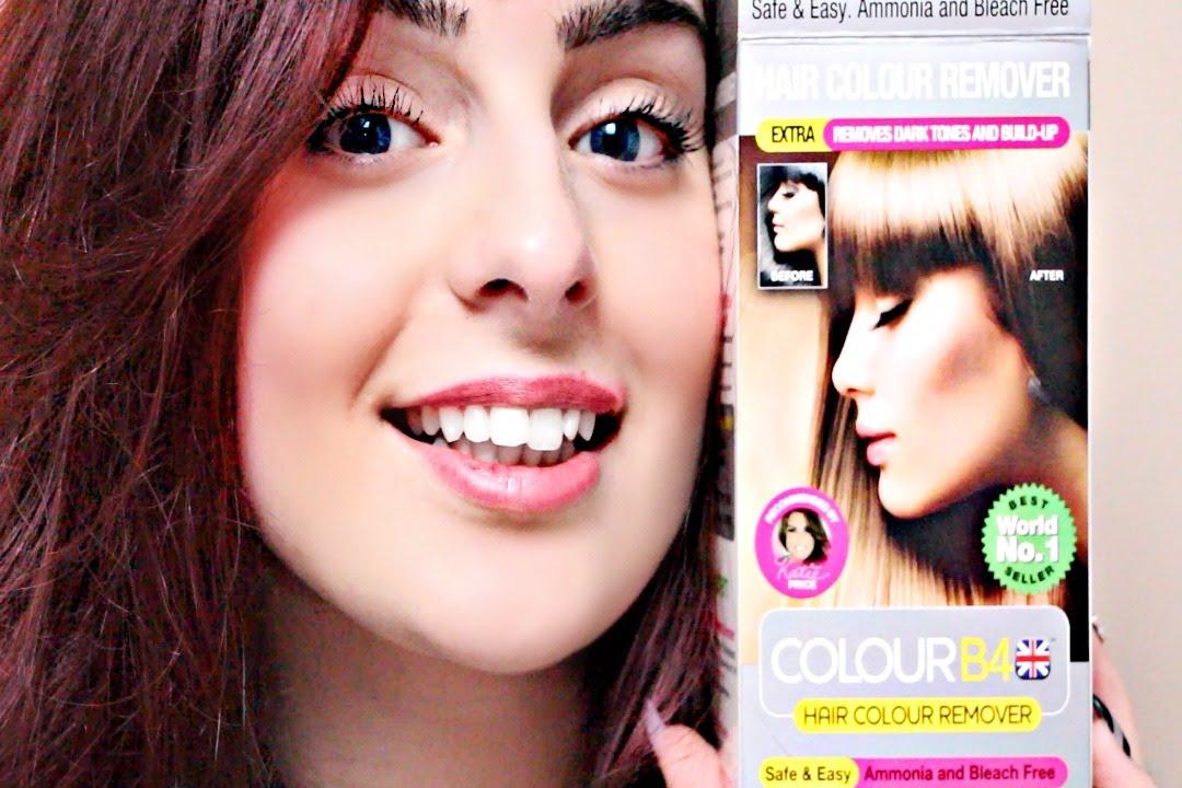 test le colour b4 jenlve le noir - Color Out Cheveux Noir
