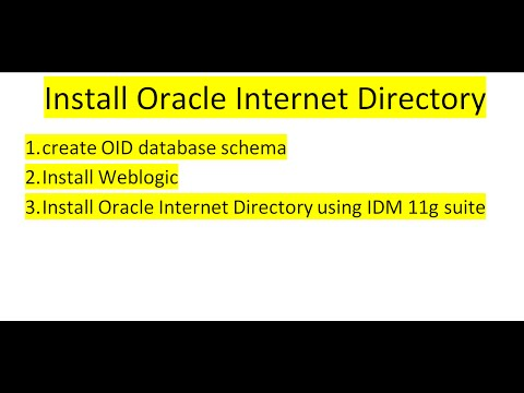 Install Oracle Internet Directory using IDM 11g suite