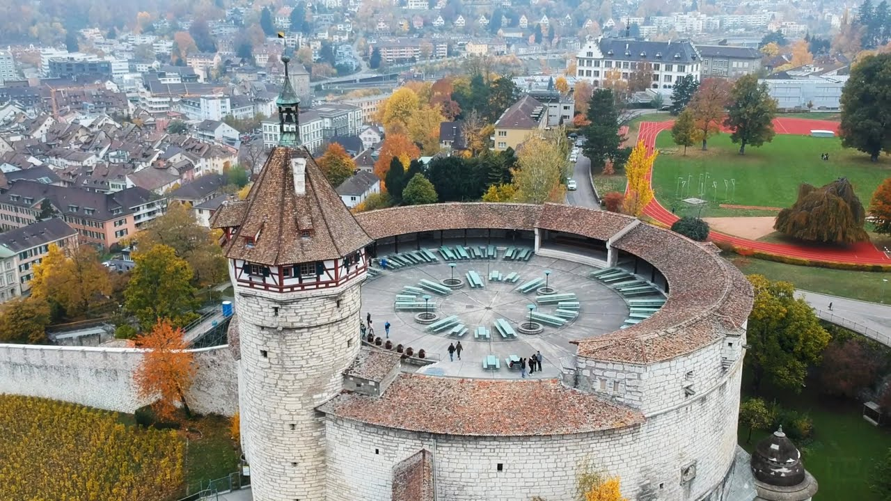 Schaffhausen from the Sky - Munot Fortress and Rhine Falls [Drone Video] -  YouTube