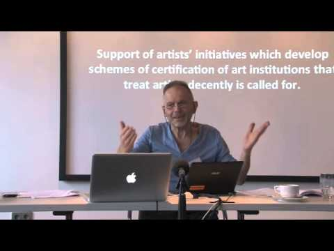 The Exploitation of Visual Artists— Hans Abbing at ARE ARTISTS RICH? 2012