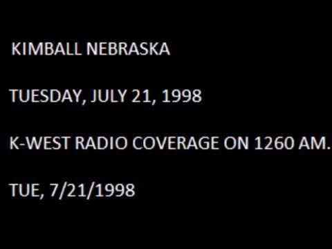 Kimball Nebraska Storm Coverage on K-West Radio 7-21-1998