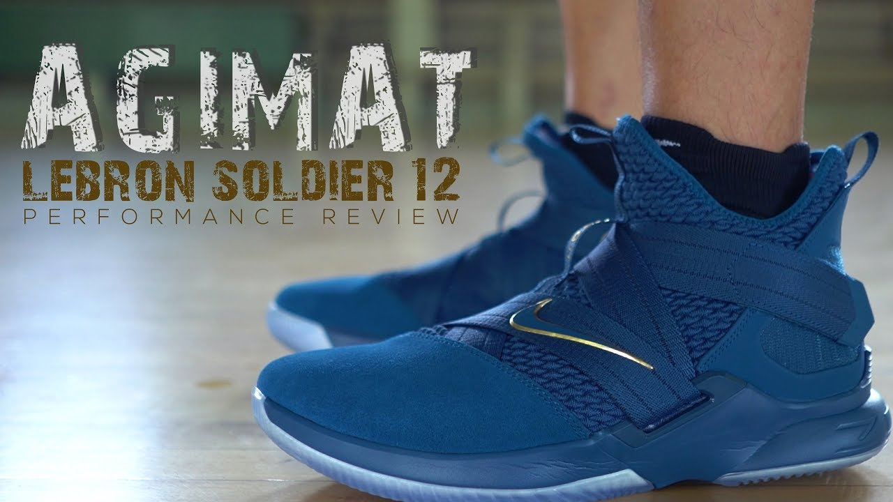 c5e451c9368 LEBRON SOLDIER 12 AGIMAT PERFORMANCE REVIEW - YouTube