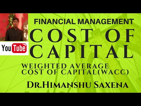 COST OF CAPITAL-WEIGHTED AVERAGE COST OF CAPITAL (WACC)
