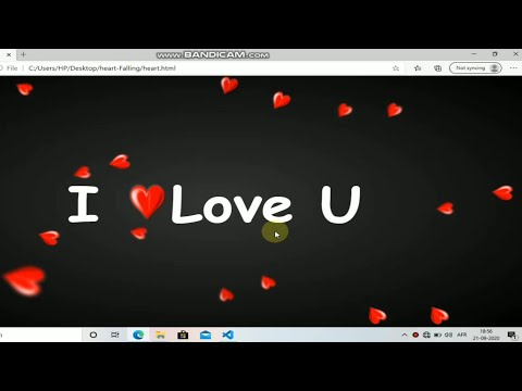 Falling Heart Animation With Pure Css And Html