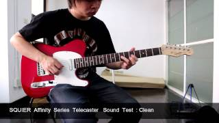 Squier Affinity Series Telecaster Sound test