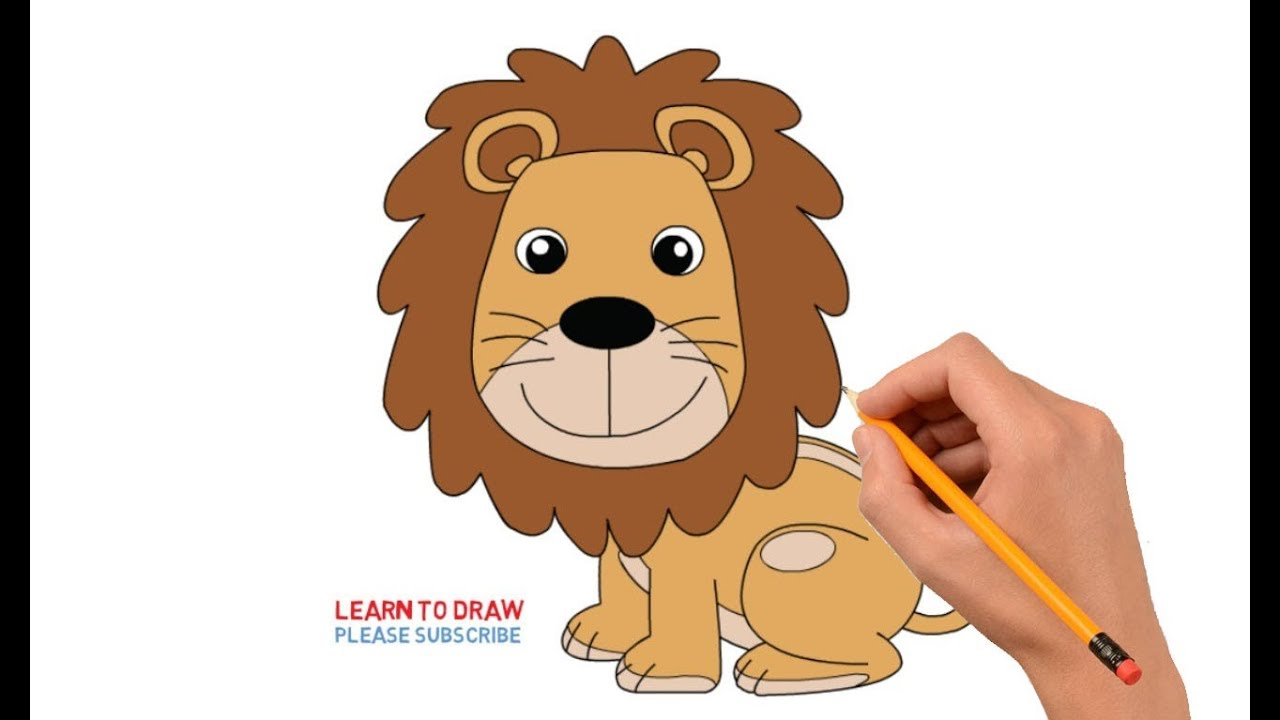 How to Draw a Cartoon Lion Step by Step Easy For Kids