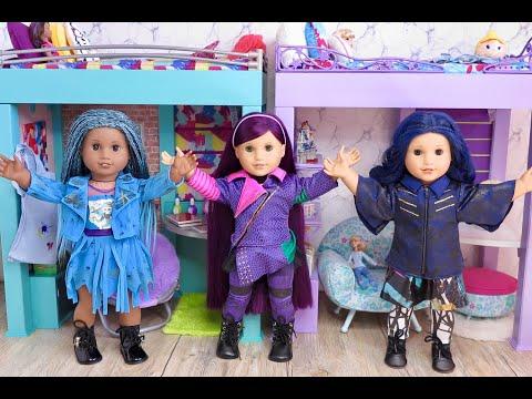 Setting Up American Girl Doll Disney Descendants Dorm Loft Beds!