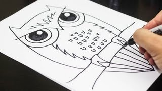 How To Draw An Owl(Download our free how to draw an owl printable at http://artforkidshub.com/how-to-draw-an-owl/ Or just visit http://artforkidshub.com for more art for kids activities!, 2013-09-23T16:48:23.000Z)