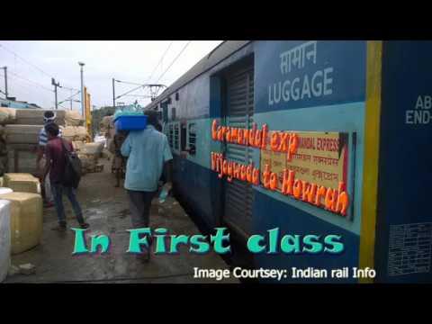 Vijaywada to Howrah Train journey in FIRST CLASS travel Indian Railway