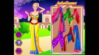 Бесплатные игры онлайн  Barbie Games  Барби Индийская принцесса, одевалка, игра для девочек