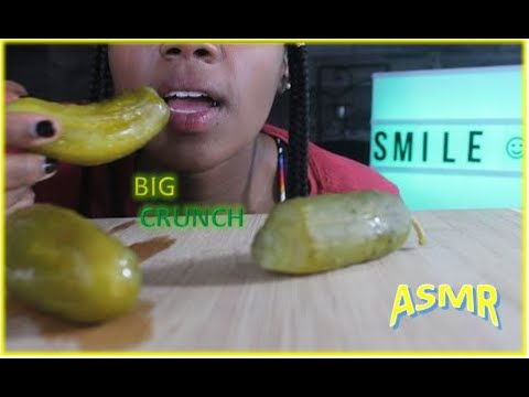 Pickle ASMR Eating Sounds/BIG Crunch/Intense   Pescatarian