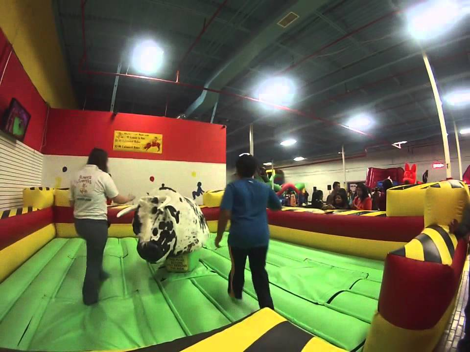 22a87dd4d649 Mechanical Bull Experience only for %241 at Bumper Jumpers - YouTube