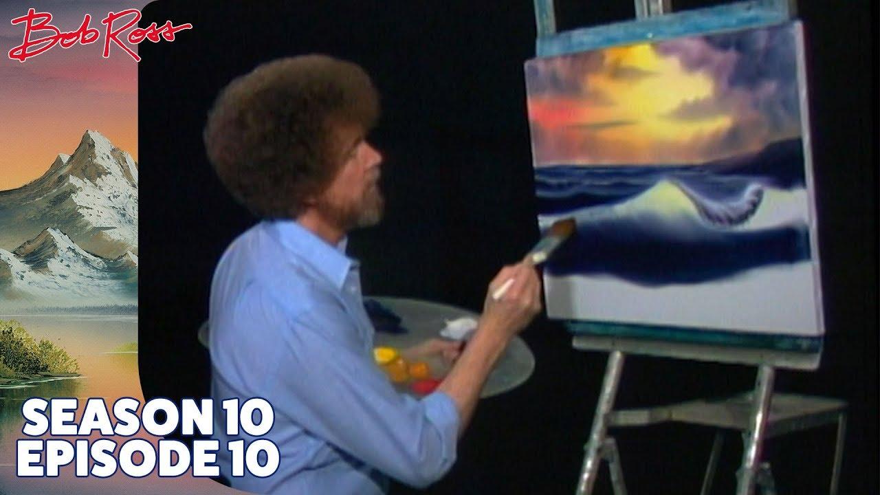 Bob Ross Ocean Sunset Season 10 Episode 10 Youtube