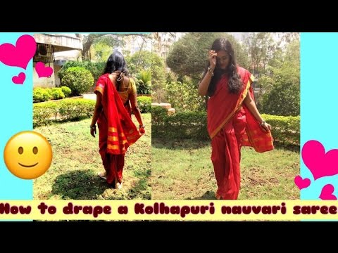 """HOW TO DRAPE KOLHAPURI NAUVARI SAREE"""