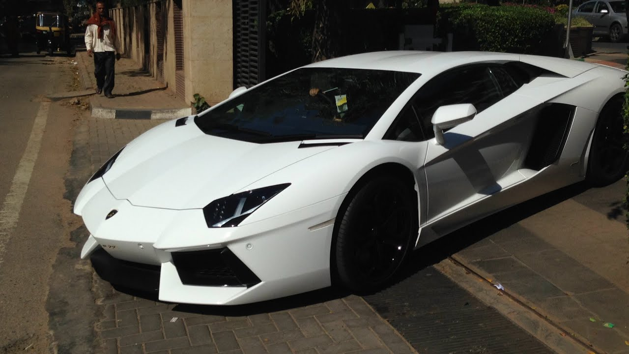 Supercars In Bangalore January Aventador Vantage