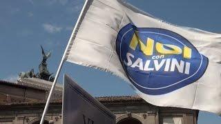 Spazziamo via Marino, Noi con Salvini protesta in Campidoglio