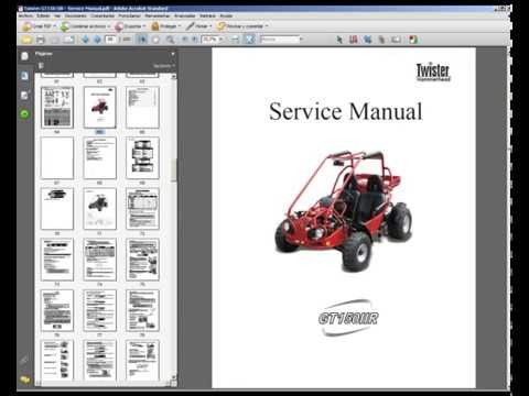 hammerhead twister gt150 iir  workshop service repair manual