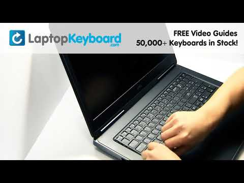 Keyboard Repair Guide | Dell Precision 7710 | Install Repair Fix 3510 7510 M7710 M7510