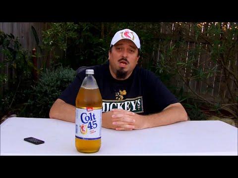 Colt 45 Malt Liquor 6.1% ABV (Revisited in a 40 ounce bottle) - SwillinGrog Beer Review