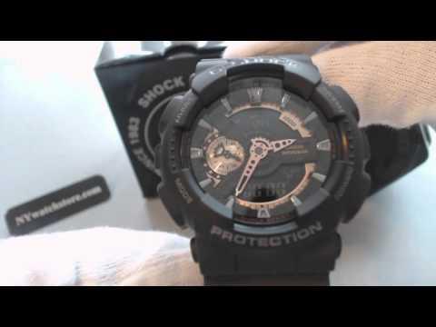Men's Black Casio G Shock Ana Digital Watch GA110RG-1A