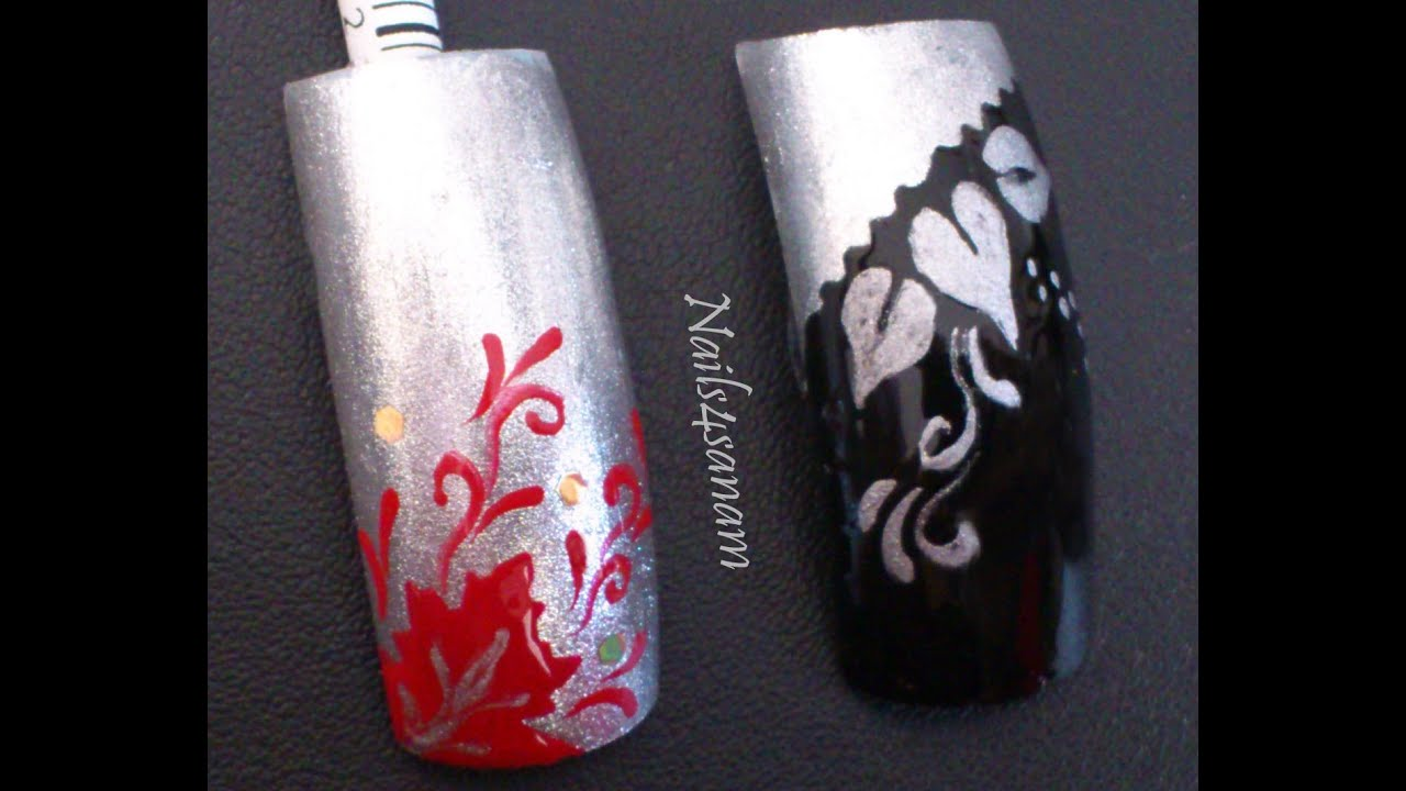 Diy stencil nail art youtube solutioingenieria Choice Image
