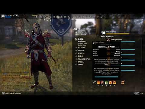 [ESO: Wrathstone] Magicka Dragonknight PvP Build (Destro/Resto)