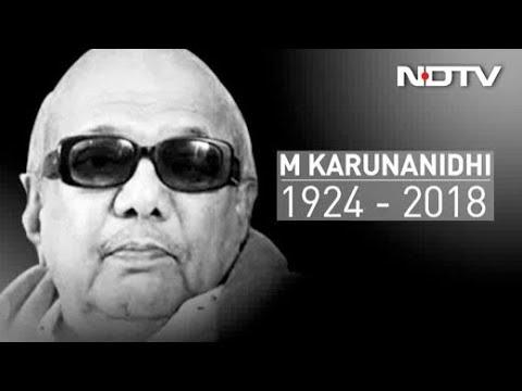 DMK Patriarch M Karunanidhi, 5-Time Tamil Nadu Chief Minister, Dies At 94 thumbnail