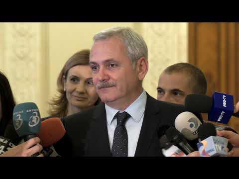 Declaraţii de presă susţinute de Liviu Dragnea la Parlament - 17.10.2017