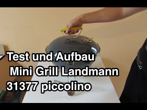 test und aufbau mini grill landmann 31377 piccolino tragbarer kugelgrill youtube. Black Bedroom Furniture Sets. Home Design Ideas