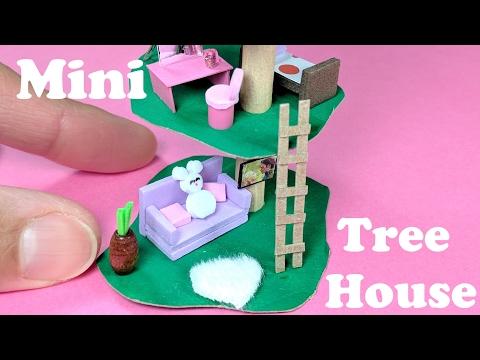 DIY Miniature Treehouse – Doll DIY