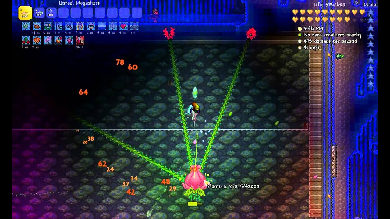 Terraria 1 3 0 8 Expert Plantera Kill Enraged Underground Youtube