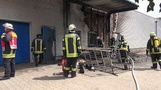 NRWspot.de | Hagen – Brand an Rückseite eines Bettenlagers
