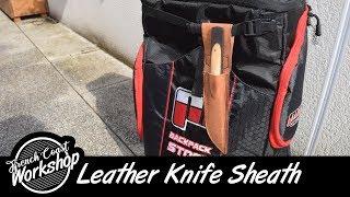 Leather Knife Sheath    DIY