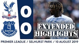 MOISE KEAN + JP GBAMIN MAKE EVERTON DEBUTS | EXTENDED HIGHLIGHTS: CRYSTAL PALACE 0-0 EVERTON